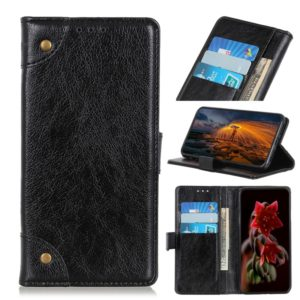 Copper Buckle Nappa Texture Horizontal Flip Leather Case with Holder & Card Slots & Wallet for ZTE Blade V10 Vita(Black)