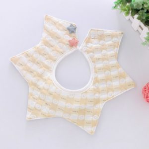 Star Bib Cotton Waterproof Saliva Pocket Children s Saliva Towel, Size:0-2 Years Old(Two-color Grid)