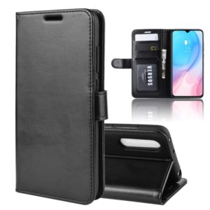 R64 Texture Single Fold Horizontal Flip Leather Case for MI CC9, with Holder & Card Slots & Wallet(black)