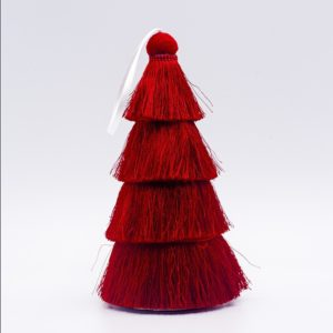 2 PCS Tassel Christmas Tree Ornaments Creative Home Decoration Ornaments( Red )