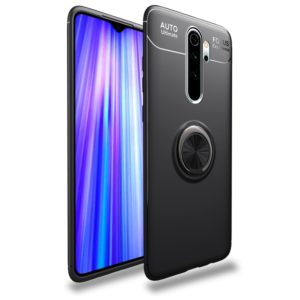 For Xiaomi Redmi Note 8 Pro Lenuo Shockproof TPU Protective Case with Invisible Holder(Black) (lenuo)
