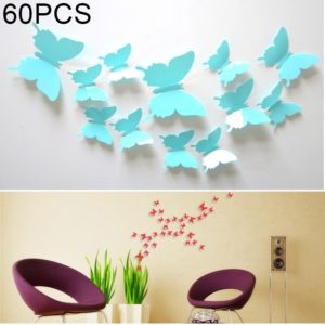 60 PCS Home Decoration Originality PVC 3D Butterfly Wall Paste