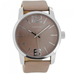 Ρολόι OOZOO Timepieces Beige Leather Strap - C7013 C7013