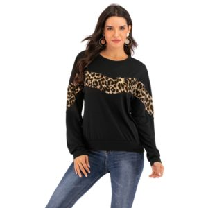 Fashion Personality Long-sleeved Shirts (Color:Black Size:XL)