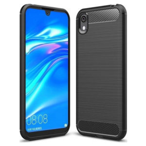 Forcell Carbon-Brushed TPU Case Black for Huawei Y5 2019