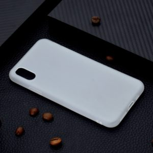For iPhone XS / X Candy Color TPU Case(White)