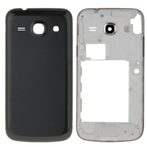 Full Housing Cover (Middle Frame Bezel + Battery Back Cover) for Galaxy Core Plus / G350(Black)