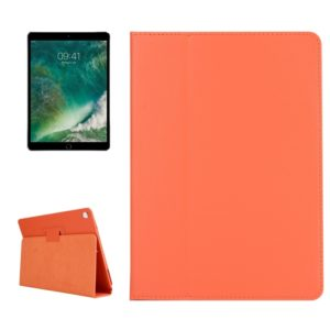 For iPad Pro 10.5 inch Litchi Texture 2-fold Horizontal Flip Leather Case with Holder(Orange)