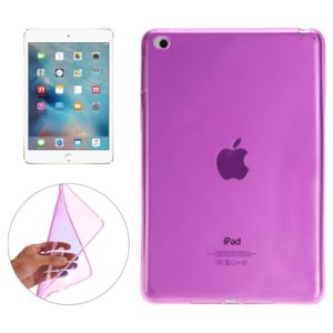 Smooth Surface TPU Case for iPad Mini 4(Magenta)