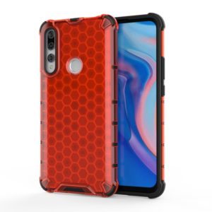 For Huawei Y9 Prime (2019) Shockproof Honeycomb PC + TPU Case(Red)