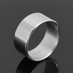 Male Delay Ejaculation Thin Stainless Steel Penis Ring, Inner Diameter: 30mm (FunAdd)