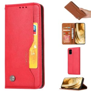 For Galaxy A51 Knead Skin Texture Horizontal Flip Leather Case with Photo Frame & Holder & Card Slots & Wallet(Red)