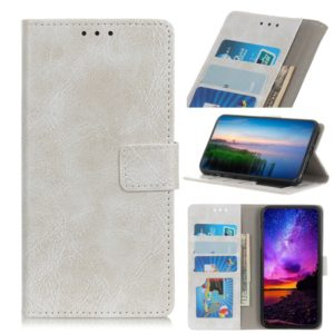 Retro Crazy Horse Texture Horizontal Flip Leather Case for Galaxy A2 Core, with Holder & Card Slots & Wallet & Photo Frame (White)