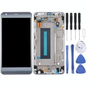LCD Screen and Digitizer Full Assembly with Frame for LG X Cam / K580 / K580I / K580Y (Silver)