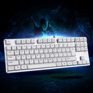 AULA F2012 Contractor Series 87 Keys USB Wired Mechanical Gaming Keyboard(White) (AULA)