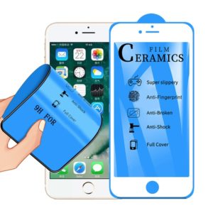 2.5D Full Glue Full Cover Ceramics Film for iPhone 6(White)