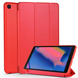 Cowhide Texture Horizontal Flip Leather Case for Galaxy Tab A8 (2019) P200 / P205, with Holder(Red)