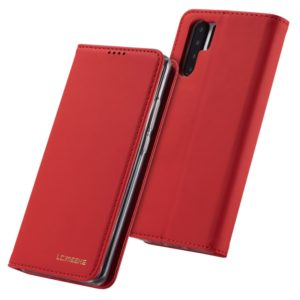 For Huawei P30 Pro LC.IMEEKE LC-002 Series Skin Hand Feeling PU + TPU Horizontal Flip Leather Case with Holder & Card Slot & Wallet(Red) (LC.IMEEKE)