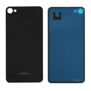 For Meizu U20 / Meilan U20 Glass Battery Back Cover with Adhesive(Black)