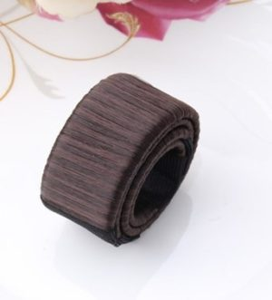 3PCS Magic Bun Women Synthetic Wig Headwear Donuts Bud Ball Twist Magic DIY Bun Maker Tools(dark coffee) (Meirui)