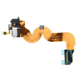 Original Charging Port + Headphone Audio Jack Flex Cable for iPod touch 5 (Black)