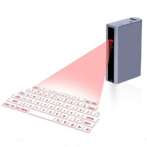 MINI F3 Bluetooth Charging Treasure Laser Virtual Projection 2 in 1 Keyboard(Silver)