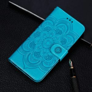 Mandala Embossing Pattern Horizontal Flip Leather Case for Xiaomi Mi CC9e / A3, with Holder & Card Slots & Wallet & Photo Frame & Lanyard(Blue)