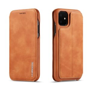 For iPhone 11 Pro Hon Ancient Series Leather Case with Card Slots & Holder & Wallet(Brown) (LC.IMEEKE)
