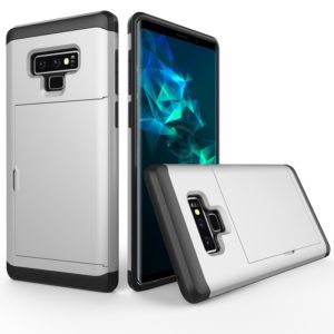 Shockproof Rugged Armor Protective Case for Galaxy Note 9, with Card Slot(Silver)