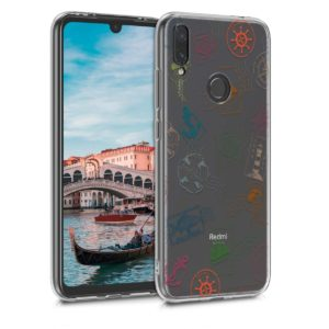 KW KW Θήκη σιλικόνης για Redmi Note 7 Nautical Stamps green / blue / transparent (48156.04)