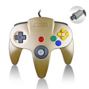 Nintendo N64 Wired Game Controller Gamepad (Gold)