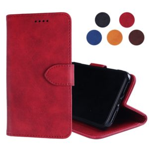 Calf Texture Horizontal Flip Leather Case for Alcatel 1S(2019), with Holder & Card Slots & Wallet(Red)
