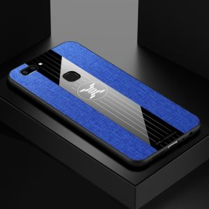 For Vivo X20 XINLI Stitching Cloth Texture Shockproof TPU Protective Case(Blue) (XINLI)