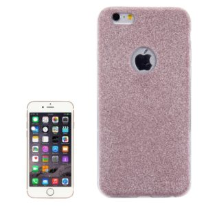 For iPhone 6 & 6s Glitter Powder Soft TPU Protective Cover Case (Rose Gold)