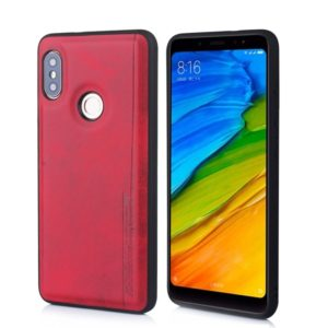For Xiaomi Redmi Note 5 Diaobaolee Shockproof PU + TPU Protective Case(Red) (Diaobaolee)