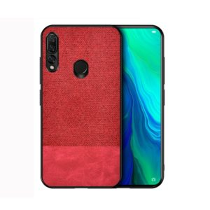 Shockproof Splicing PU + Cloth Protective Case for Huawei Y9 (2019) (Red)