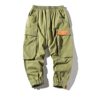 Loose Tooling Casual Pants Trousers for Men (Color:Army Green Size:M)