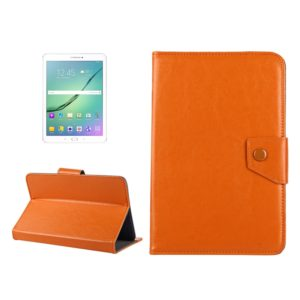10 inch Tablets Leather Case Crazy Horse Texture Protective Case Shell with Holder for Asus ZenPad 10 Z300C, Huawei MediaPad M2 10.0-A01W, Cube IWORK10(Orange)