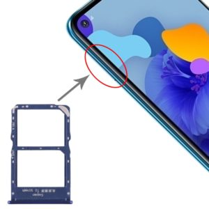 SIM Card Tray + NM Card Tray for Huawei Mate 30 Lite (Blue)