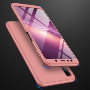 GKK Three Stage Splicing Full Coverage PC Case for Samsung Galaxy A7 (2018) (Rose Gold) (GKK)
