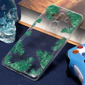 For Huawei Mate 10 Pro Green Leaf Pattern Oil Embossed Soft TPU Protective Back Case