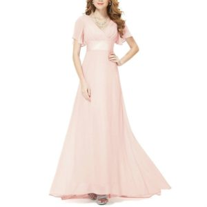 Evening Dresses Padded Trailing Flutter Summer Style Dresses, Size:XL(Pink)