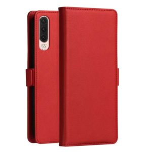 DZGOGO MILO Series PC + PU Horizontal Flip Leather Case for Huawei P30, with Holder & Card Slot & Wallet (Red) (DZGOGO)