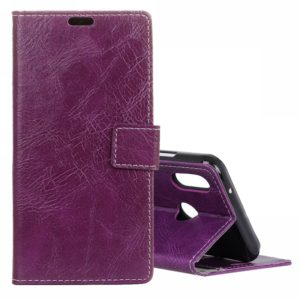 Vintage Crazy Horse Texture Horizontal Flip Leather Case For Xiaomi Mi Play, with Wallet & Holder & Card Slots & Photo Frame (Purple)