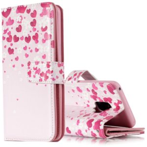 For Galaxy S9 Love Flower Pattern Horizontal Flip Leather Case with Holder & Card Slots & Wallet