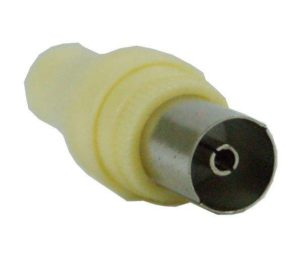 ADAPTOR TV CABLE FEMALE ADAPTER PAL 9.5mm ΤΕΛΙΚΟ ΒΥΣΜΑ ΘΥΛΗΚΟ ΜΠΕΖ N002F