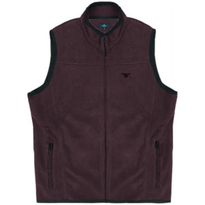 MFT-2VA Double Full Zip Gillet Fleece (μεγάλα μεγέθη)(wine)