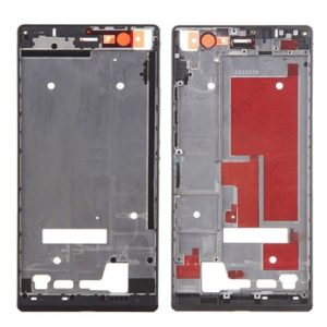 Front Housing Screen Frame Bezel for Huawei Ascend P7(Black)