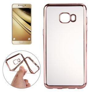 Electroplating Transparent Soft TPU Protective Cover Case for Galaxy A9 2016(Rose Gold)