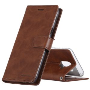 GOOSPERY Crazy Horse Texture Horizontal Flip PU Leather Case for Galaxy A6 (2018), with Holder & Card Slots & Wallet(Brown)